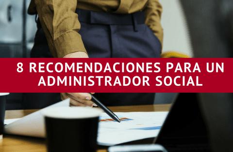 Imagen direcitvo mesa sobre recomendaciones como administrador social