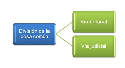 procedimiento división de la cosa común
